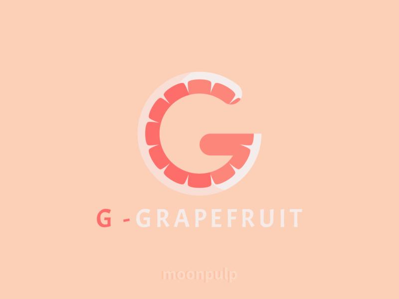 G - Grapefruit letterlogo branding design identity illustration food illustration vector logo food grapefruit letter