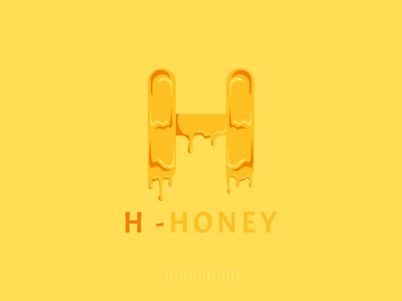 H - Honey letterlogo branding design identity illustration food illustration vector logo honey food letter