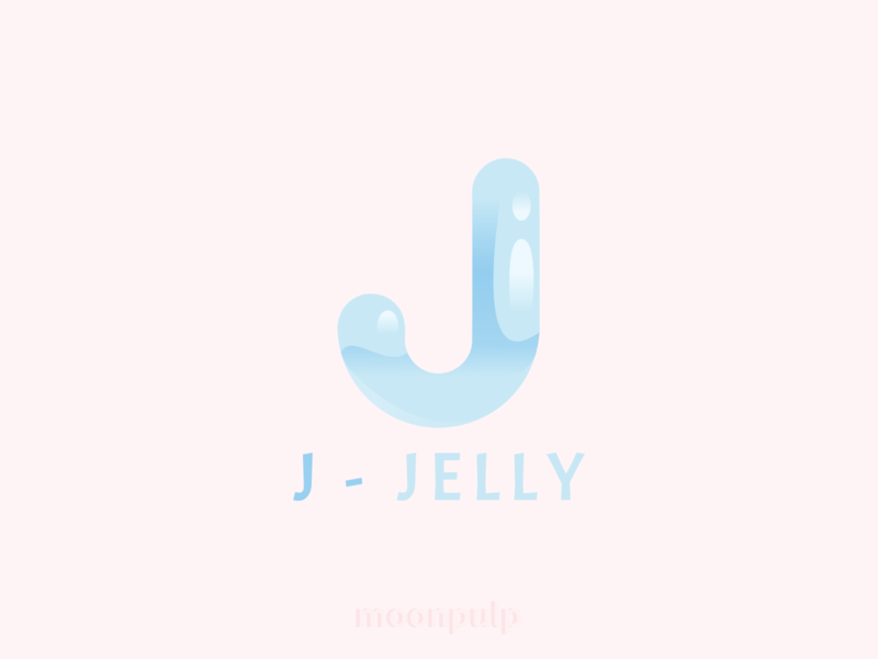 J - Jelly letter logo vector illustration foodillustration identity food jelly branding letterlogo