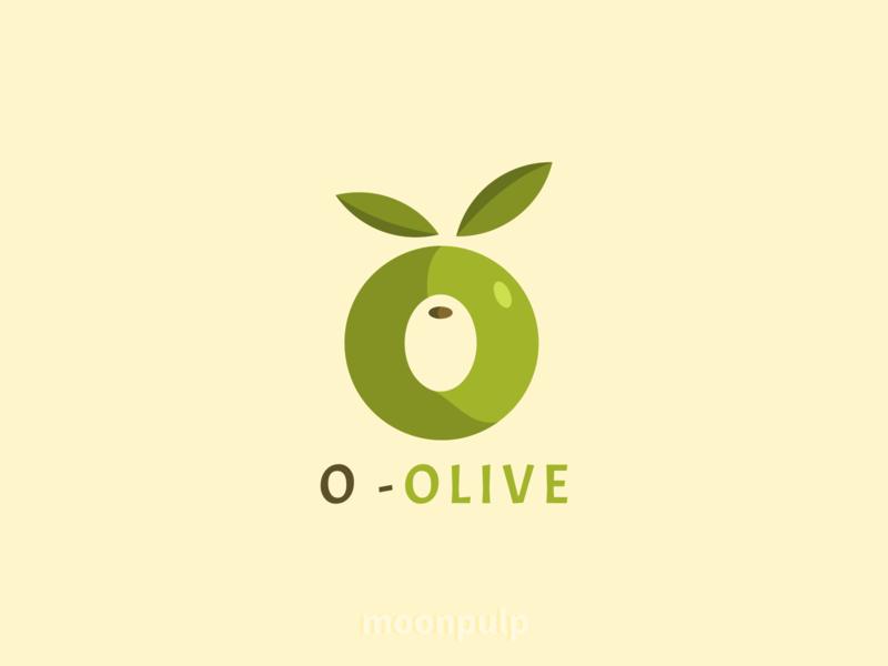 O - Olive vector illustration food illustration olive food branding letterlogo letter logo identity