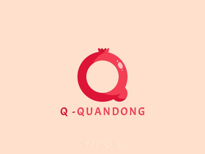 Q - Quandong identity branding letterlogo letter vector logo food illustration foodillustration food quandong design