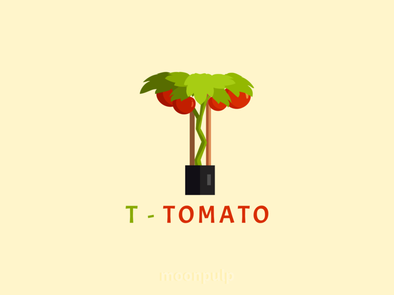T - Tomato vector branding foodillustration food tomato letterlogo letter logo identity