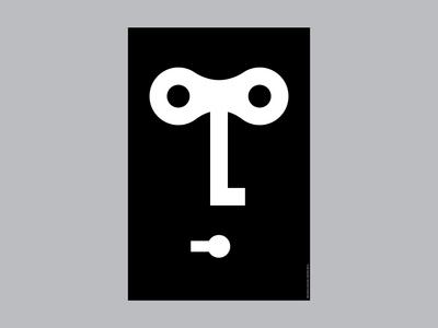 key / face