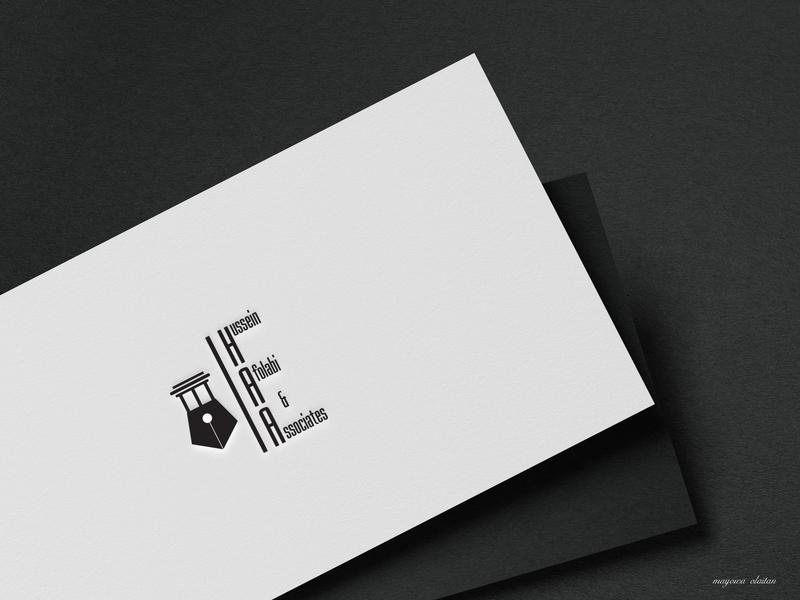 Hussein Afolabi & Associates logo typography branding design brand identity