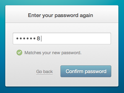 Password fields forms web password
