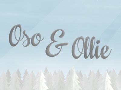 Oso & Ollie Titles oso ollie winter title 2d texture bright fun mograph mentor trees sky arctic