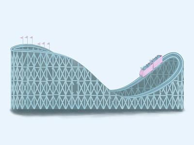 Roller Coaster mograph mentor design roller coaster amusement park fun vector