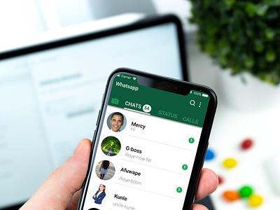 Whatsapp homepage design design ux ui