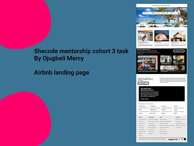 Airbnb landing page (She code mentorship cohort 3 task) design figma uiux ui