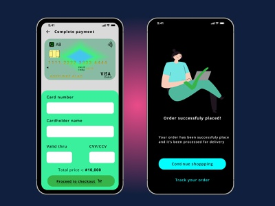 Day 002 of the daily UI challenge credit card checkout page app ui ux design