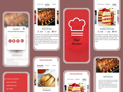 A  Food recipe App Design ui uiux figma ux design