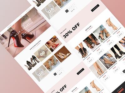 Wear luxury shoe landing page design design ui ux figma uiux