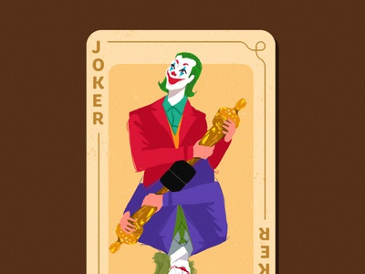 Joaquin  winning oscar Joker adobe illustrator creative jocker oscar character design illustration