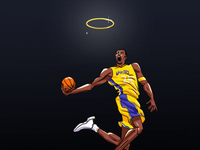 Kobe bryant  tribute concept art basketball player tribute kobe bryant art adobe illustrator illustration character design