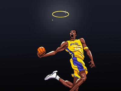 Kobe bryant  tribute concept art basketball player tribute kobe bryant art adobe illustrator illustration character design