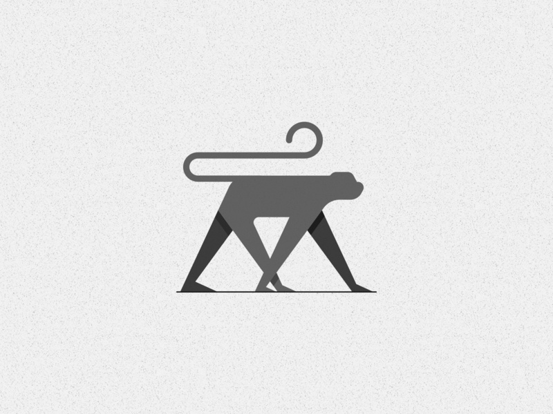 M for Monkey graphics illustration art logo creative design