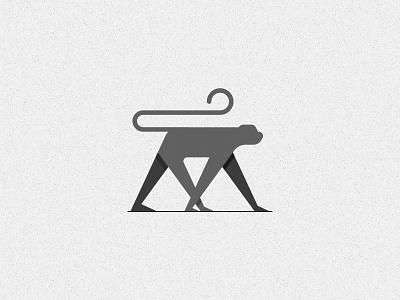 M for Monkey graphics illustration art logo creative design