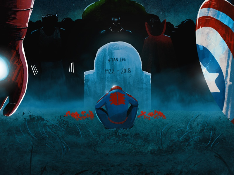 Tribute to Stan Lee doctorstrange wolverine hulk captain america rip avengers spiderman lee stan marvel stanlee