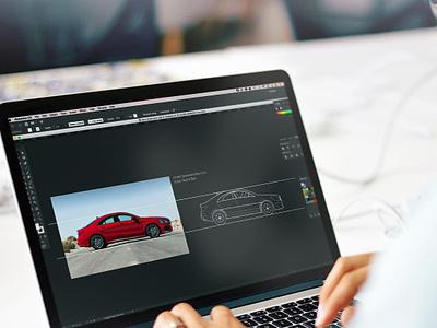 Car Design graphics illustrations animation art design