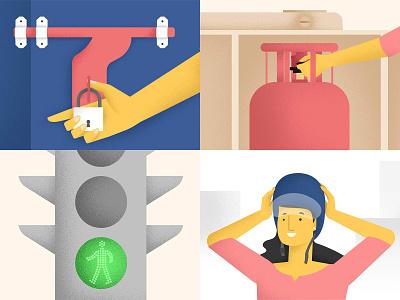 Safety first art minimal wowmakers utkarsh explainer illustration illustrator