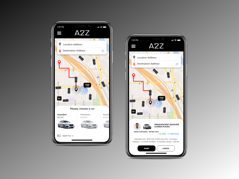 Taxi App taxi app road way ride map address mapping location app ux ui design taxi