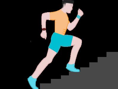 Running Stairs Logo vector illustration running branding design illustration vector logo design logo