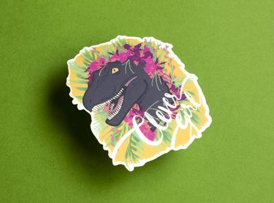 Clever Girl Sticker matte typography sticker design sticker illustration