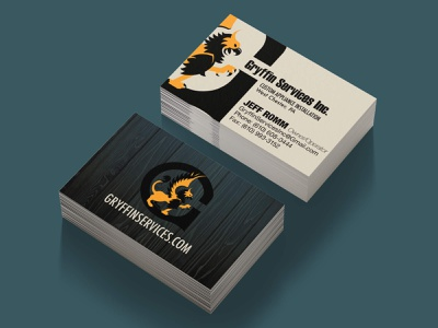 Gryffin Services Business Card business card brand design vector branding logo
