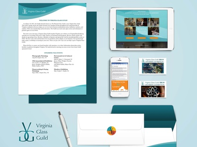 Virginia Glass Guild Identity website letterhead nonprofit design logo branding brand design