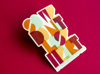Dont Lose Heart Sticker scripture abstract experimental geometic typography procreate sticker design sticker illustration