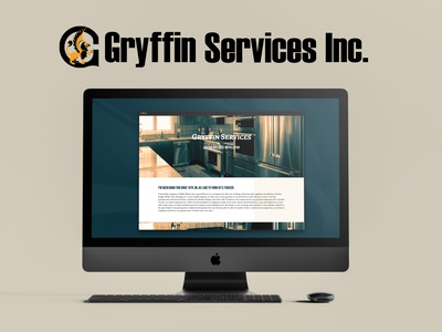 Gryffin Services Website desktop web design website design vector logo branding brand design