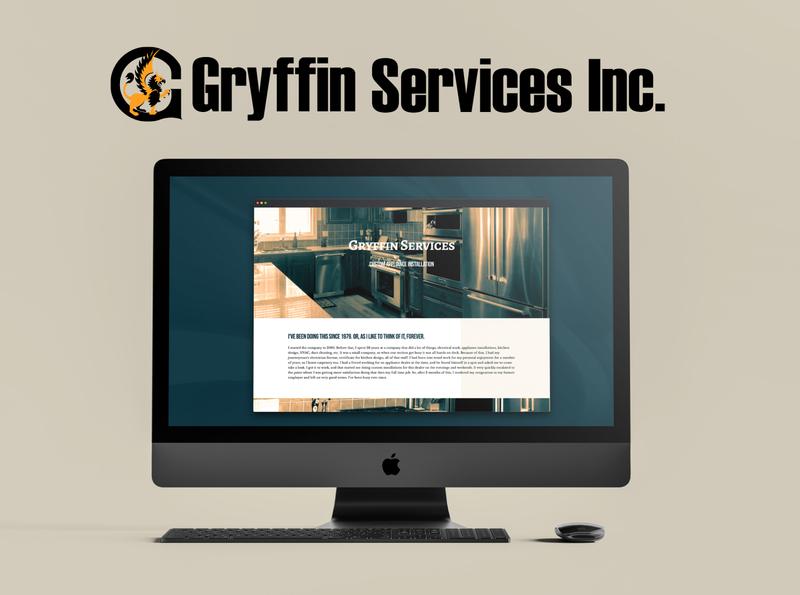 Gryffin Services Website desktop web design website design vector logo branding brand design