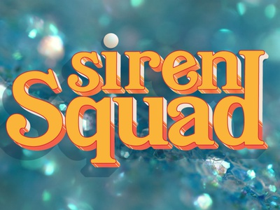 Siren Squad campaign twitch mermaid branding vector design typography logo