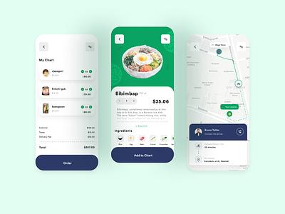 Food Delivery App korean food korean food delivery food mobile app design mobile ui mobile app ui ux design ui design