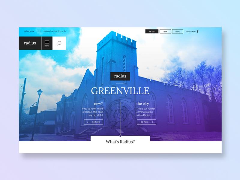 Radius Church - Website Design by Cristian Valdes | Dribbble