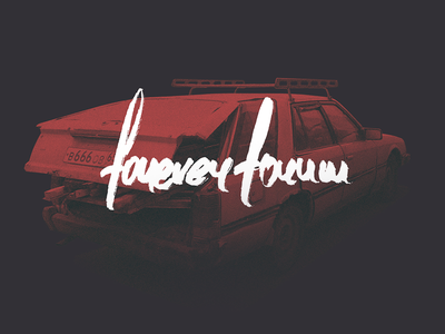 foreverforum banger handwrtitten wagon skyline brush lettering