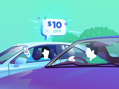Friends don't let friends drive dirty driving shine share refer discount sale bonus referral wash car friend