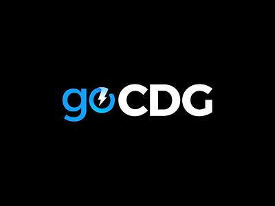 GoCDG logotype logo zap renewable power energy lightning energetic solar energy solar