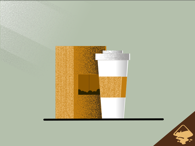 Coffee and Beans coffee cup hot beverage latte drink hot drink beverage coffee beans coffee illustration