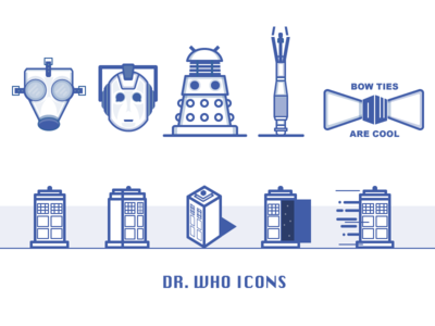 Dr. Who Icons combo