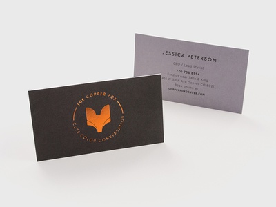 Copper Fox Business Cards
