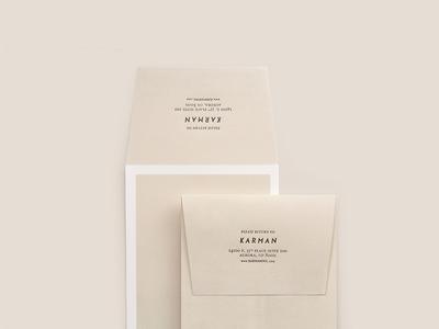 Karman Inc. Envelope