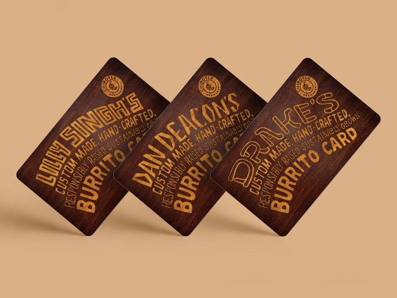 Chipotle Burrito Cards design lettering chipotle