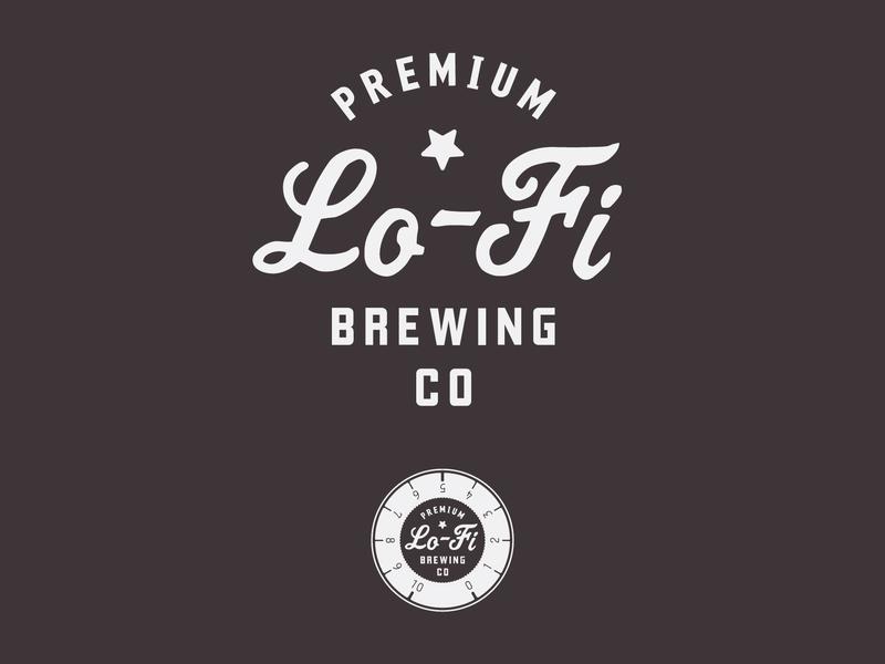 Lo-Fi Brewing Logo design logo identity beer lofi