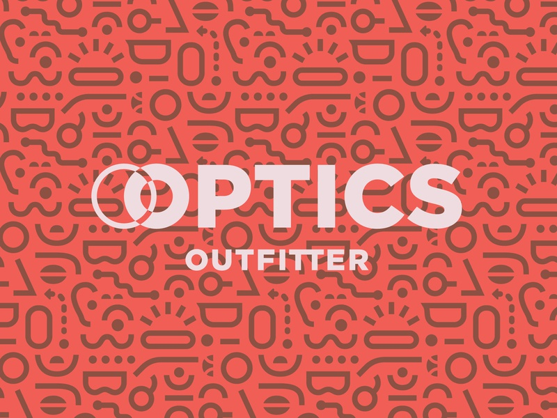 Optics Outfitter Branding pattern logo identity design branding optics outfitter