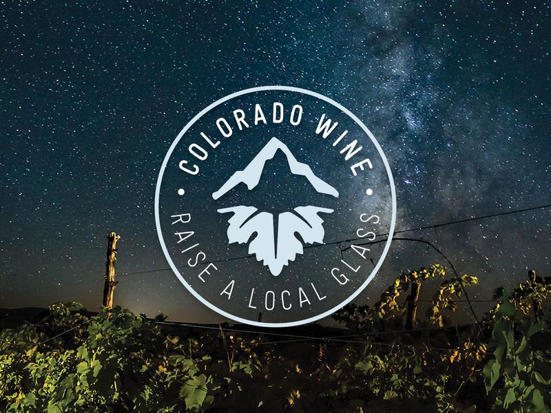 Colorado Wine Logo colorado beverage branding identity logo colorado wine