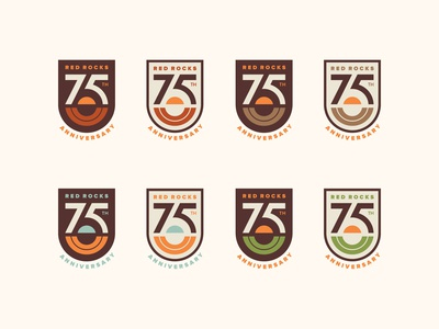 Red Rocks 75th Logo