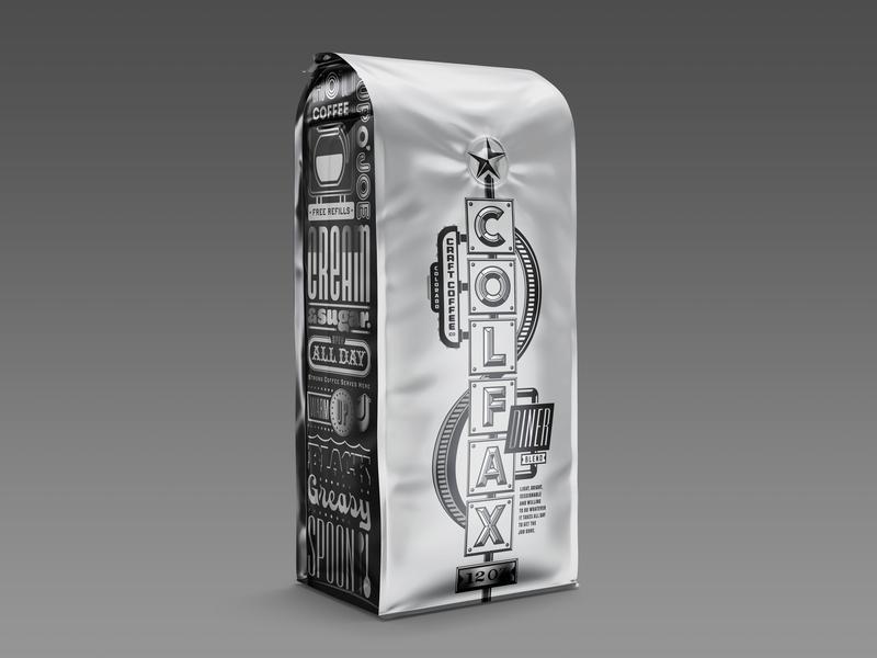 Colorado Craft Coffee Company colorado springs metallic colfax branding packaging coffee colorado cccc