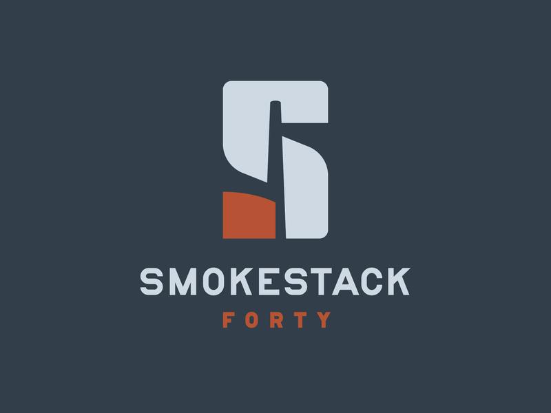 Smokestack Logo identity branding logo real estate smokestack