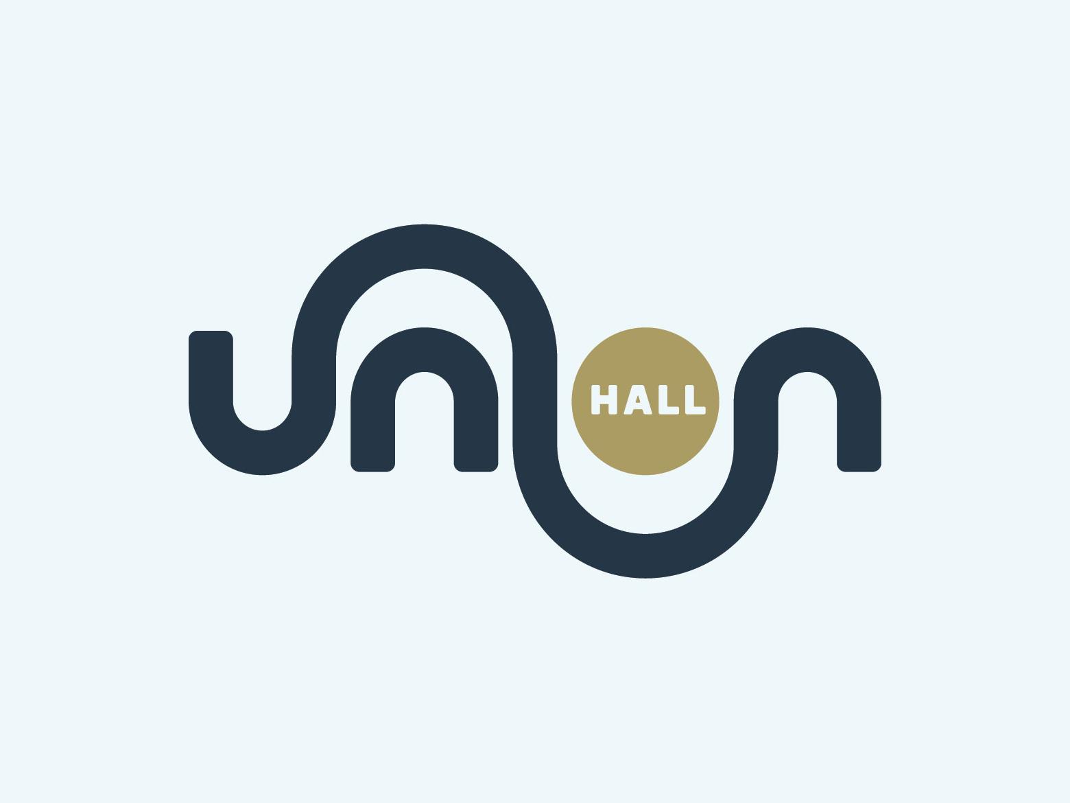 Union Hall Logo denver branding identity logo art gallery union hall